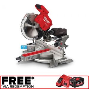 143242 milwaukee 18v fuel 305mm dual bevel sliding compound mitre saw w one key skin m18fms3050 PROMO