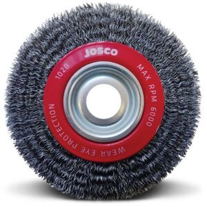 20160 josco crimped multi bore wheel brush 150 x 22mm 102b