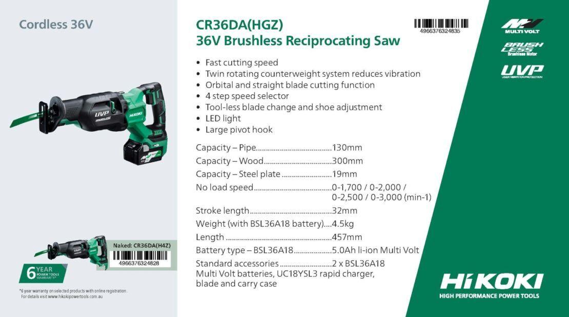 Cr36da hgz product card