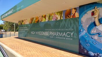 High Wycombe Pharmacy rebrand and sign graphics