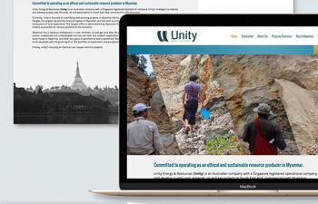 Unity Energy & Resources branding and website